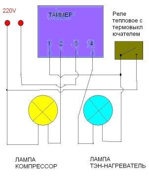 Схема подключения таймера оттайки на аристон
